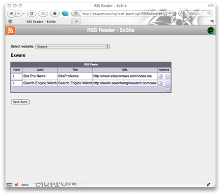 Exware Support - RSS Feed Module
